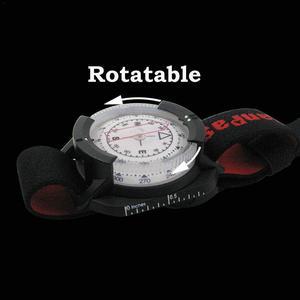 Image 2 - Boussole extérieure montre professionnelle plongée étanche navigateur numérique montre tactique boussole de plongée pour la natation sous marine 60M