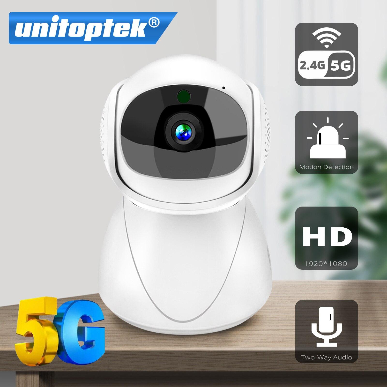 Wifi ip câmera 1080p hd câmera de segurança em casa vigilância cctv rede ptz sem fio 2.4g/5g câmera áudio em dois sentidos inteligente monitor do bebê