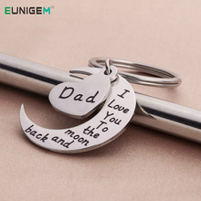 Keyring Pendant Keychain Daddy Father-Present Birthday-Gifts From-Son-Daughter Papa