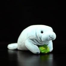 Manatee bonito simulação steller mar vacas bonecas macio brinquedo de pelúcia lifelike trichechu mar animal aleta hidrodamalis gigas crianças presentes