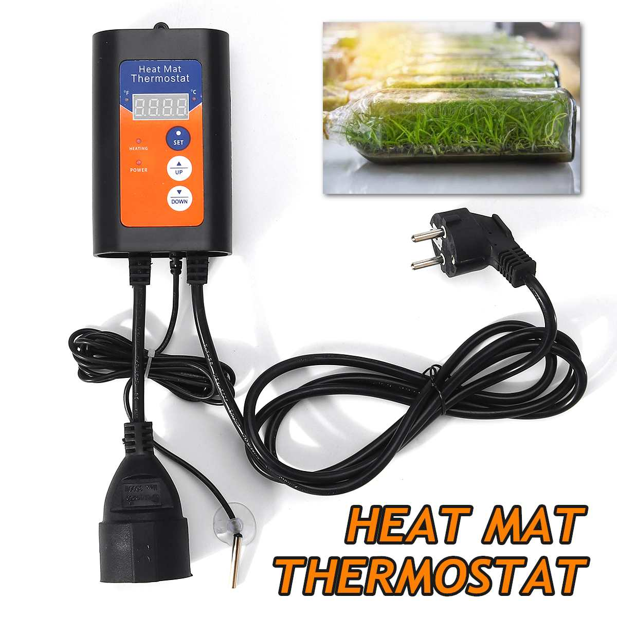 Digital Heat Mat Thermostat 1000W 230V Temperature Controller For Hydroponic Plants Seed Germination Reptiles Pet Supplies