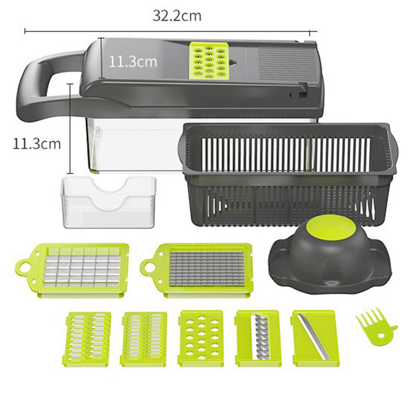 Mandoline Vegetable Fruit Slicer Grater Cutter Peeler Multifunctional Potato Peeler Carrot Grater Drain Basket Kitchen Tool 6