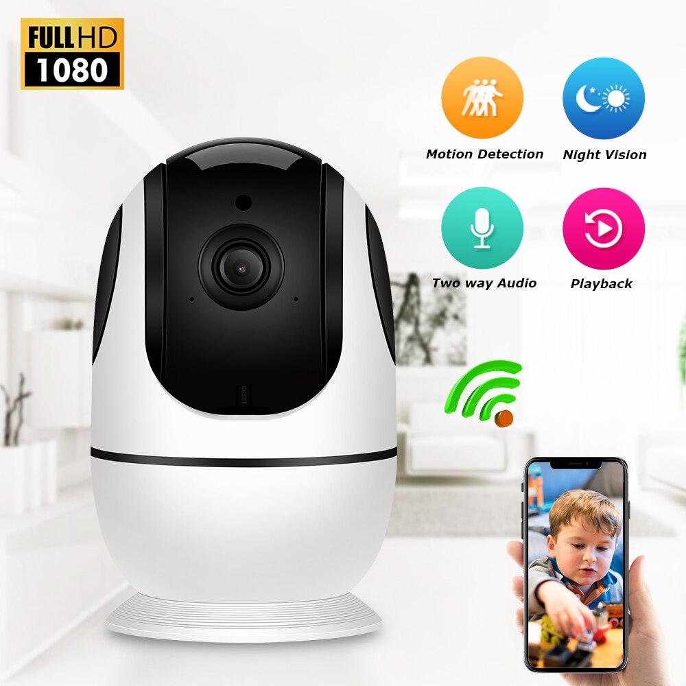 Zoohi 1080P Wireless IP Camera WIFI Security Camera CCTV Home Security Camera 2MP Baby Monitor Night Vision Surveillance Camera computer case