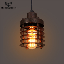 купить American Industrial Led Pendant Lights Retro Black Iron Pendant Lamp Bar Lighting Restaurant Cafe Decor Lighting Fixtures Avize дешево