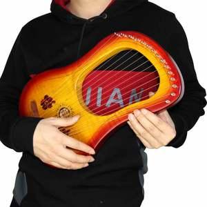 Image 2 - ヤモリ 15 ストリング木製竪琴ハープ金属弦カナダカエデ弦楽器とキャリーバッグ