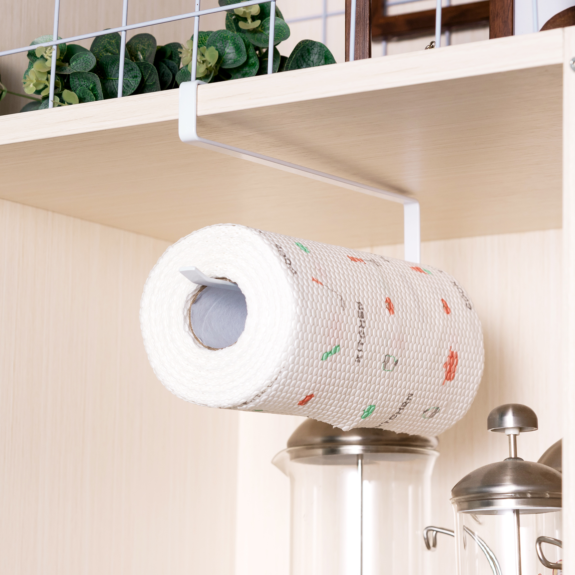Creative Wrought Iron Storage Paper Towel Holder Free Punch Paper Holder For Bathroom Kitchen Living Room Durable Roll Holder