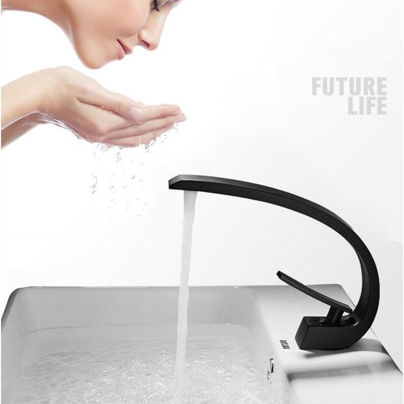 Vidric горячий кран для холодной раковины, однорычажный черный смеситель для ванной комнаты, смеситель для раковины воды, белая/Золотая щетка
