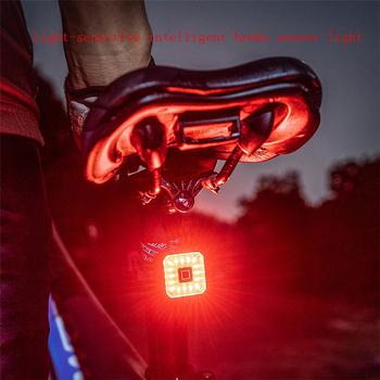 Tylne światła rowerowe inteligentne czujniki światła hamowania wodoodporne światła hamowania samochodu USB szosowe MTB tylne światło kwadratowe światła tylne tanie i dobre opinie BIKEIN Pro CN (pochodzenie) CubeLiteII Sztyc rowerowa Baterii Manual Auto Rechargeable lithium battery USB micro ARMCortex