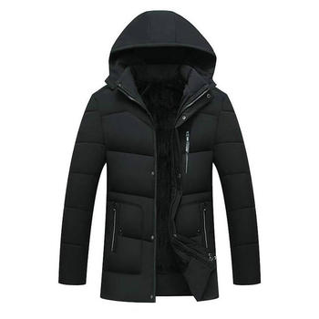 Winter Jackets Men 2020 New Male Casual Hooded Outwears Coat Warm Parka Overcoat Men's Solid Thick Fleece Zipper Jackets men s winter parka jackets large size fleece thick warm winter jackets male outwear windbreakers fur hooded jackets coats