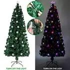 6/7 pies fibra óptica árbol de Navidad 230/290 ramas para decoraciones de fiesta de Navidad en casa
