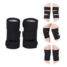2 Pcs Self-Heating Knee Support Cold-Proof Adjustable Tourmaline Magnetic Therapy Pad Arthritis Brace Protective Belt can CSV woolen windproof cold proof knee pad off white pair set