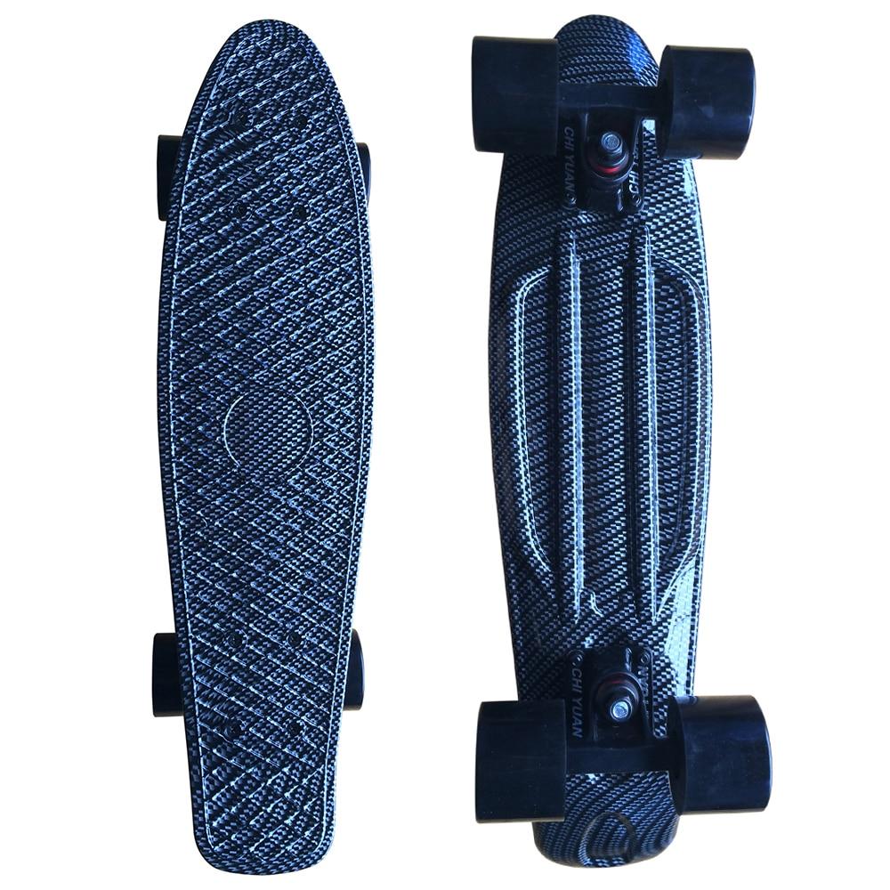 CHI YUAN Haig Graphic Printed  Mini Cruiser Plastic Skateboard 22
