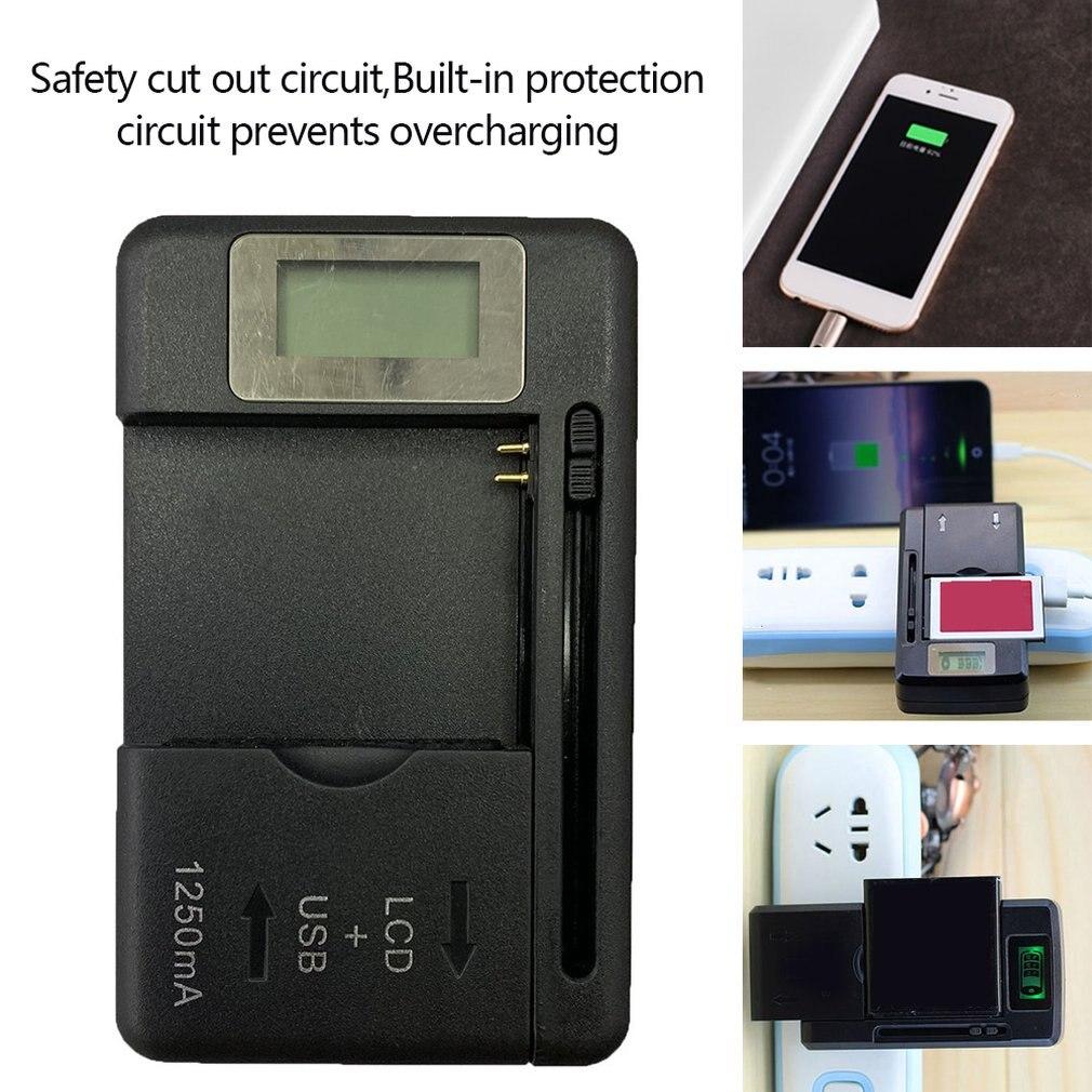 Универсальное зарядное устройство ЖК-экран индикатора для мобильного телефона зарядное устройство USB порт для многих перезаряжаемых литий...