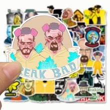 50pcs Breaking Bad Stickers Movie TV Cartoon Stickers for Suitcase Laptop Guitar Luggage Decor Graffiti Doodle toys for Children