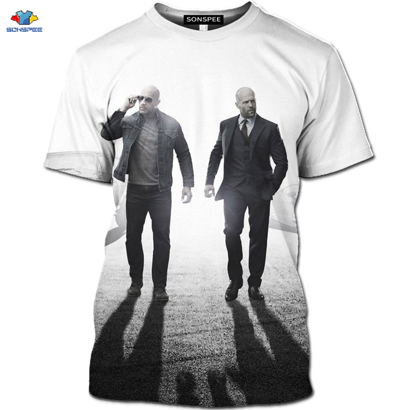 SONSPEE Passion movie Fast & Furious T-Shirt Motorcycle Hobbs And Shaw Shirt The Fate Of The Furious T-Shirt 3D GTR racing Top image