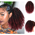 Isaic Afro Kinky Curly Ponytail African American Short Wrap Synthetic Drawstring Puff Pony Tail Clip in Hair Extensions