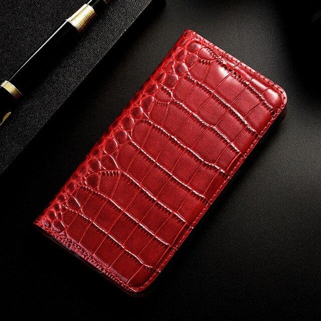 Mıknatıs doğal hakiki deri cilt cüzdan kılıf kitap telefon kılıfı kapak için Realmi Realme için C2 X2 XT Pro C X 2 T X2Pro 64/128 GB