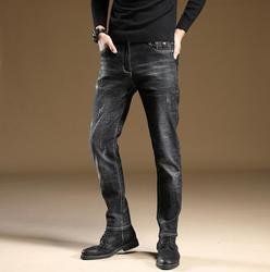 Newest Style 2020 Discount High Quality Mens Jeans Denim Black Regular Straight Stretch Jeans