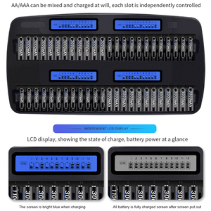 Image 3 - Palo cargador de batería de 48 ranuras, AA, AAA, luz LCD, carga rápida inteligente para batería de 1,2 V NIMH y Nicd, batería eléctrica estándar NC37