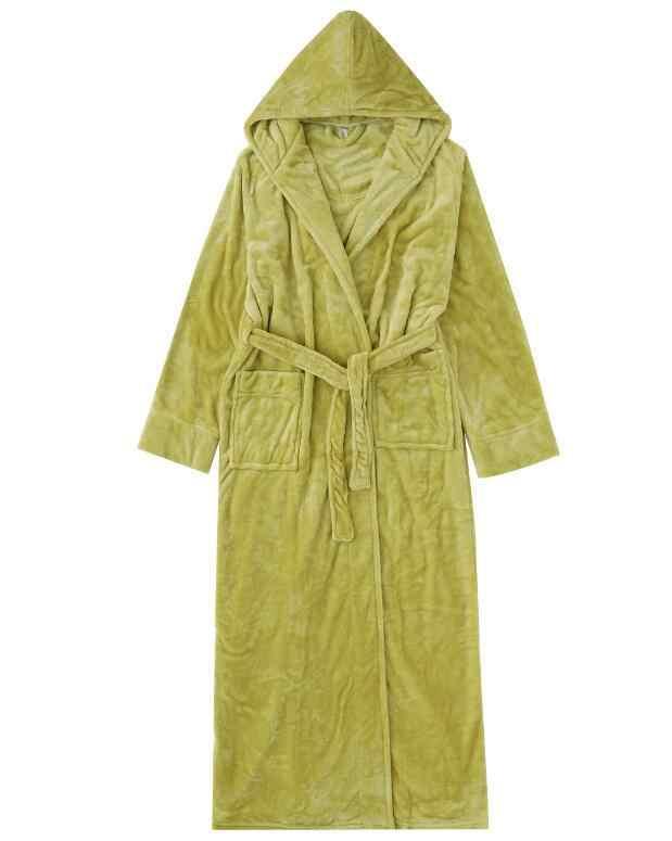 Vêtements de maison en vrac épais corail polaire femme Robe de nuit chaude vêtements de nuit décontracté flanelle vêtements de nuit doux Kimono peignoir Robe