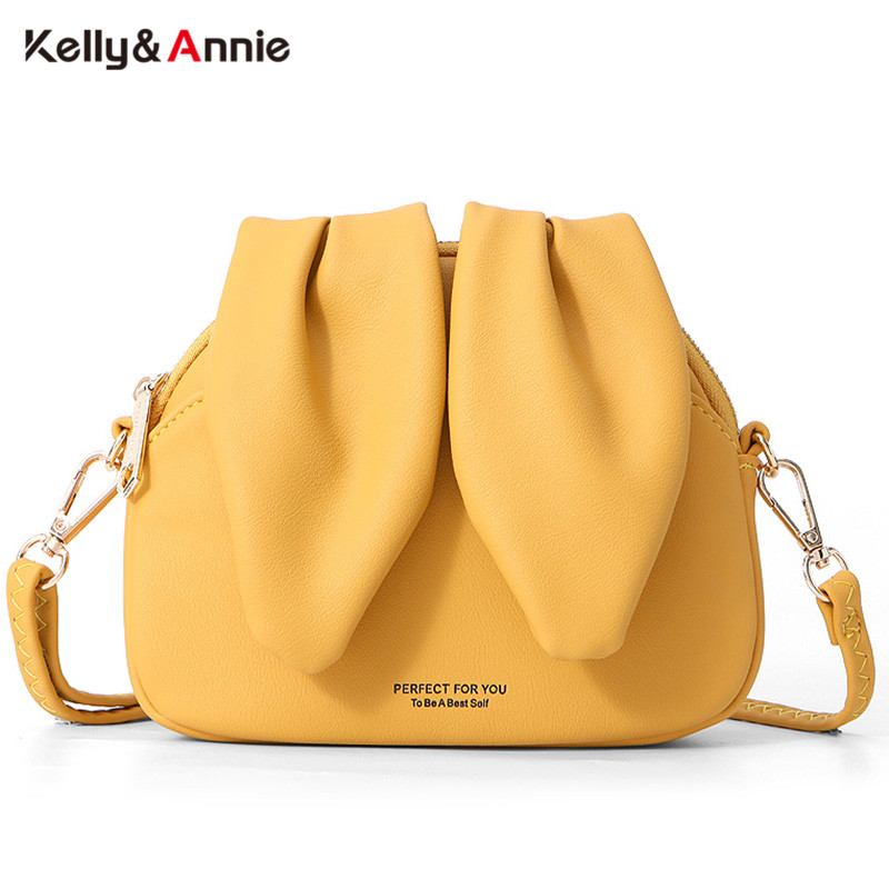 Fashion Summer Small Shoulder Bags Women Cute Rabbit Design Soft Leather Ladies Messenger Bolsa Sac Female Crossbody Bag NEW