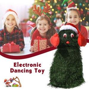 Muñeco de peluche eléctrico con forma de árbol para niños, juguete de felpa electrónico con diseño de árbol de Navidad en color verde