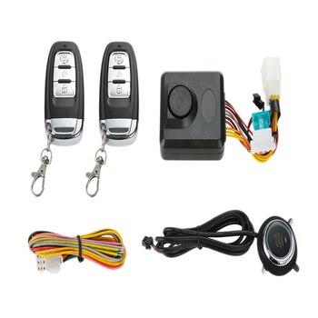 Motorcycle 2-Way Alarm System With Remote Control Universal Remote Engine Remote Control