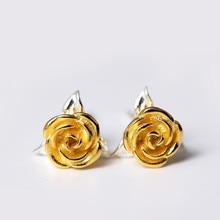 925 Sterling Silver Earrings Rose Flowers Stud For Women Fashion Simple Style Popular Lady Gift Ear Jewelry