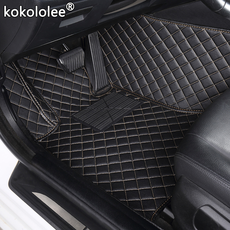 Custom Car Floor MatsFor Kia Rio K3 K5 K7 Sportage Soul Cerato Forte Opirus Optima Sorento Carens Carnival Bongo3 Carnival Foot