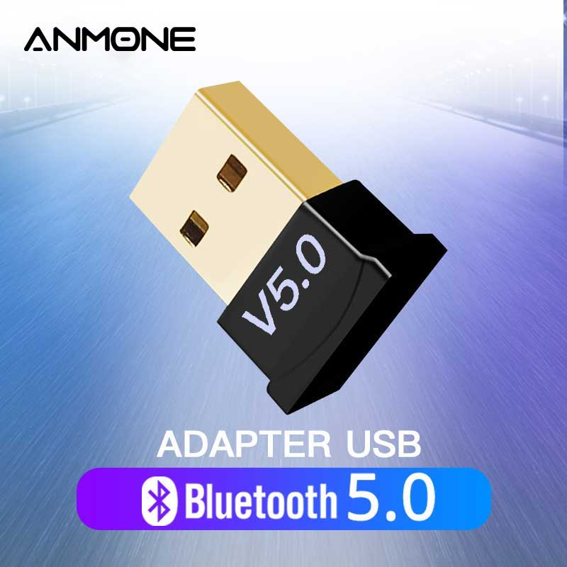 ANMONE USB Bluetooth 5.0 Adapter Transmitter For Huawei Xiaomi Samsung PC Tablet Audio Bluetooth Dongle Wireless USB Adapter