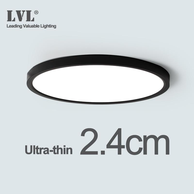 Led-Ceiling-Light Shell Bathroom-Lamps Bedroom 4000K Kitchen Black Modern-Surface 24W