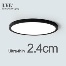 LED תקרת אור שחור מעטפת 12W 18W 24W 32W 4000K מודרני משטח תקרת מנורת עבור רחצה מנורות