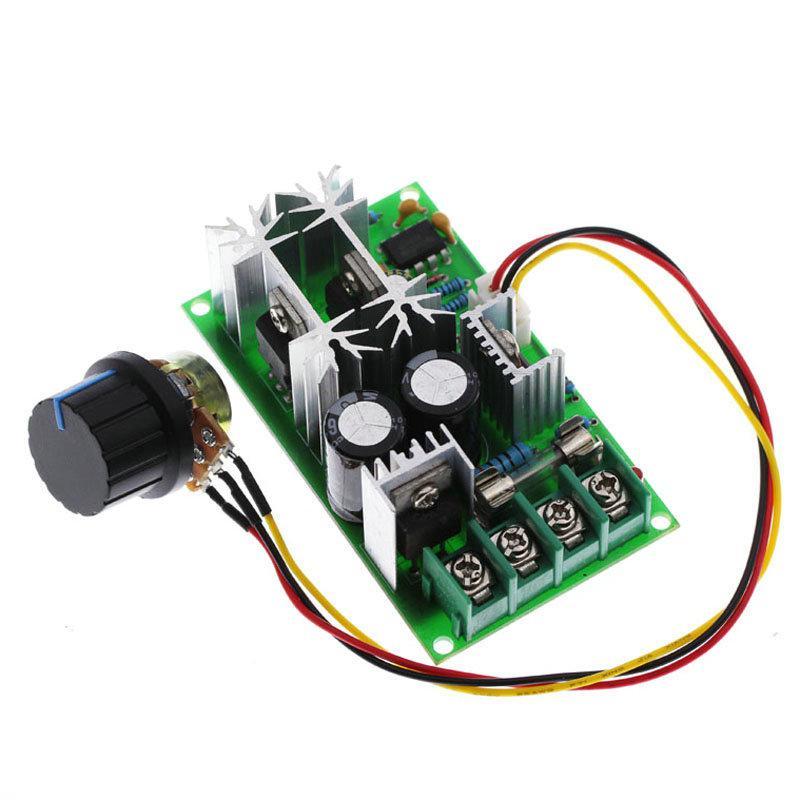 Controlador de velocidad del Motor de 20A PWM cc 12V 24V 36V 48 V/w interruptor de perilla del potenciómetro