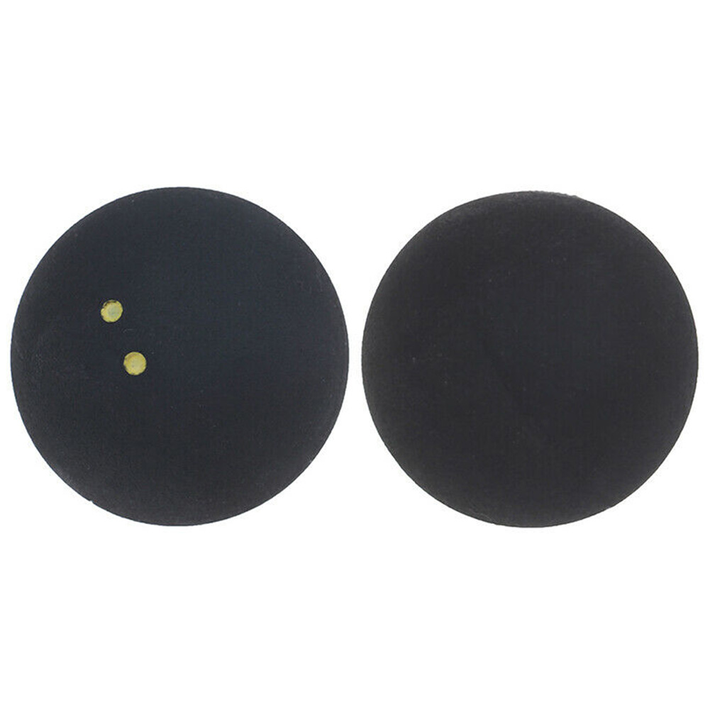 Durable Professional Player Sports Squash Ball Round Rubber Training Low Speed Competition Small Elasticity 4cm Two Yellow Dots
