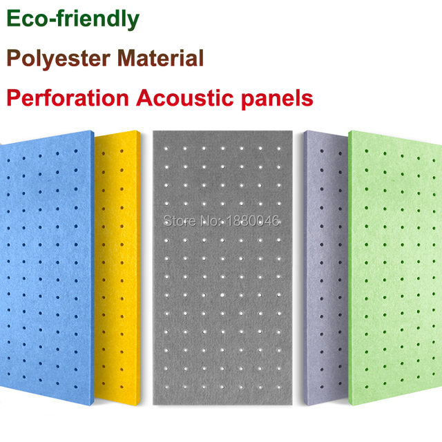 1box 10pcs New arrival Perforated sound absorber Eco-friendly Polyester Material acoustic panels  acoustic treatment wall panels