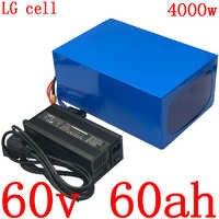 60V elektrische roller batterie 60V 2000W 3000W 4000W batterie 60V 60AH elektrische fahrrad batterie 60V Lithium-batterie verwenden LG zelle