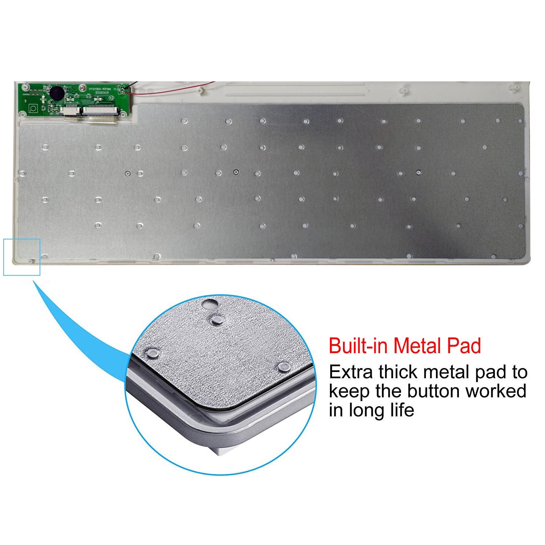 101 Keys Ultra-Thin Russian Keyboard 2.4GHz Wireless Mute Keyboard Teclado Gamer for Mac Win XP 7 10 Android TV Box