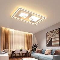 Montowane na powierzchni Moderm LED lampy sufitowe do salonu sypialnia jadalnia akrylowa lampa sufitowa oświetlenie wewnętrzne w Oświetlenie sufitowe od Lampy i oświetlenie na