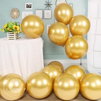 10/12inch chrome metallic balloons birthday gold helium balloon golden latex balloons wedding decoration birthday party ballon 10pcs 12inch silver gold ballon chrome metallic latex balloons birthday party wedding decoration inflatable balloon globos new