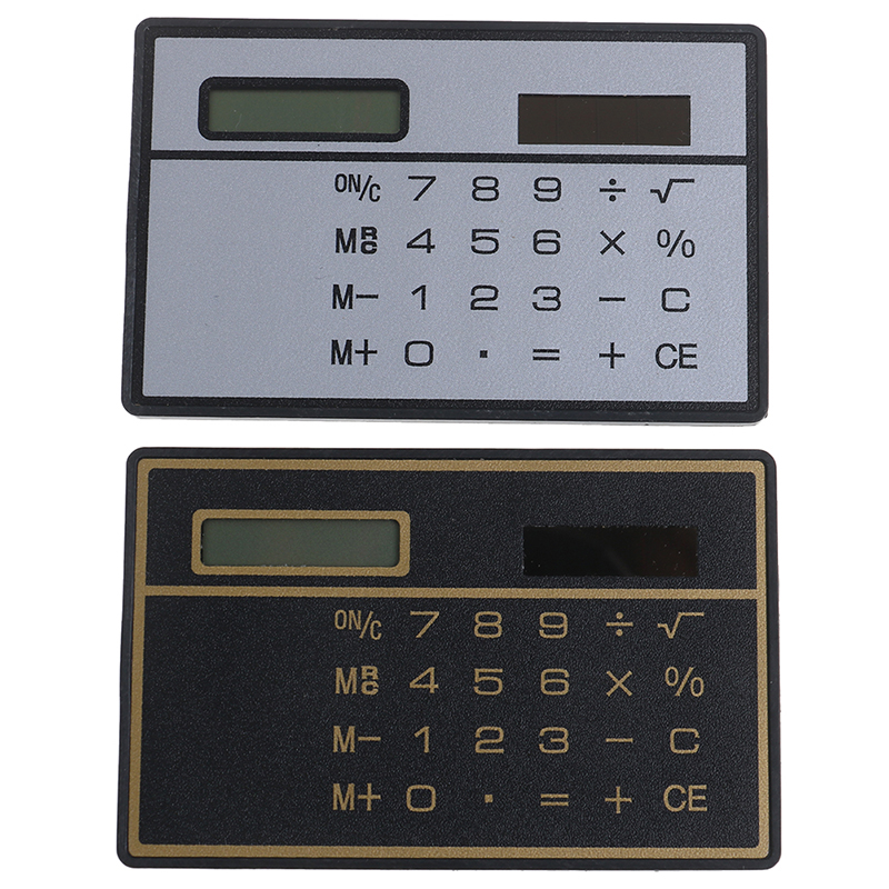 8 Digit Ultra Thin Solar Power Calculator With Touch Screen Portable Mini Calculator For Business School Tool Parts image