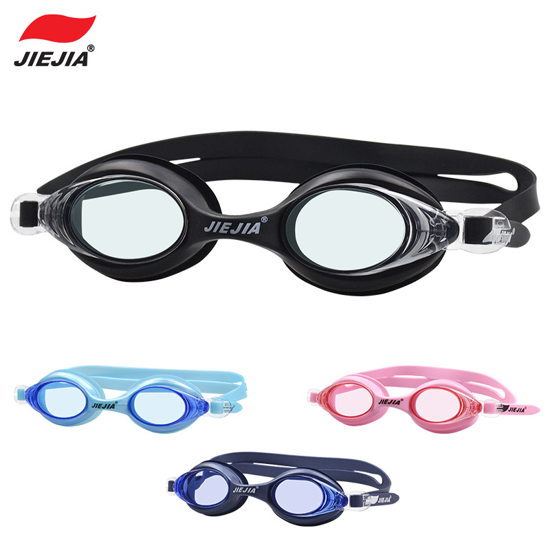 Jiejia/Usbnovel Goggles Waterproof Anti-fog Swimming Eyes Silica Gel For Both Men And Women Four Colors J2548