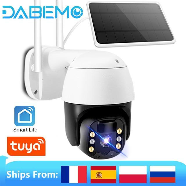 Tuya IP Camera PTZ 1080P HD Starlight Night Vision Outdoor Solar Battery Powered Wireless WIFI Camera Security Surveillance 1