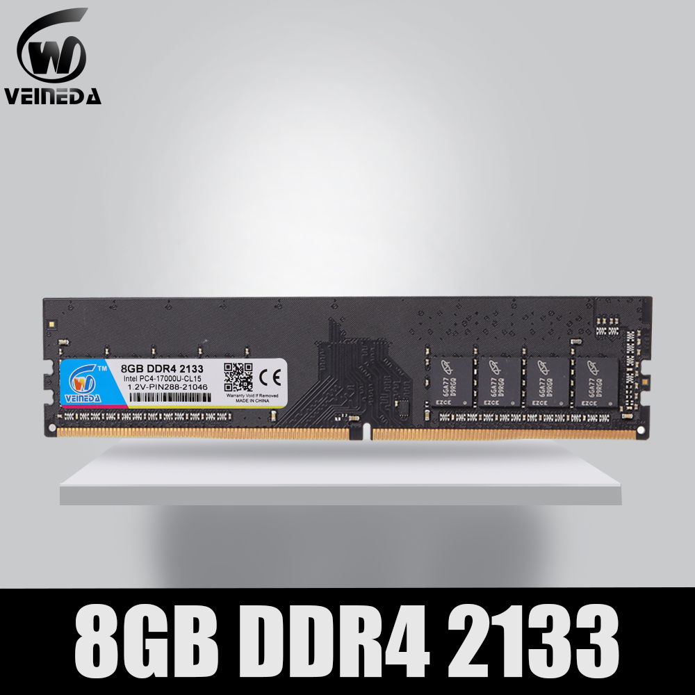 VEINEDA dimm Desktop ram ddr4  8GB  memory 2133 2400 2666MHz 1.2V  Support motherboard ddr4