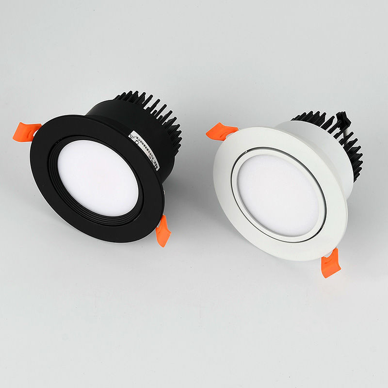 Dimmable LED Recessed Downlight 3W 5W 7W 12W 15W Bhite/Black Body Ceiling Spot Light With 90-265V LED Driver 3000K 4000K 6000K