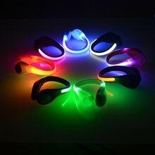 Esportes ao ar livre noite running luz útil ferramenta ao ar livre led clipe de sapato luminosa luz de advertência de segurança led brilhante flash luz