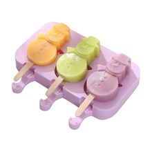 Silicone Ice Cream Mold Popsicle Molds DIY Homemade Cartoon Ice Cream Popsicle Ice Pop Maker Mould 2500 per day frozen ice cream pop mold popsicle maker with 1 mould