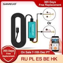 SAMEUO – chargeur Micro USB 12V, 3.5M, pour Moto, caméra de tableau de bord, DVR, câble de chargement