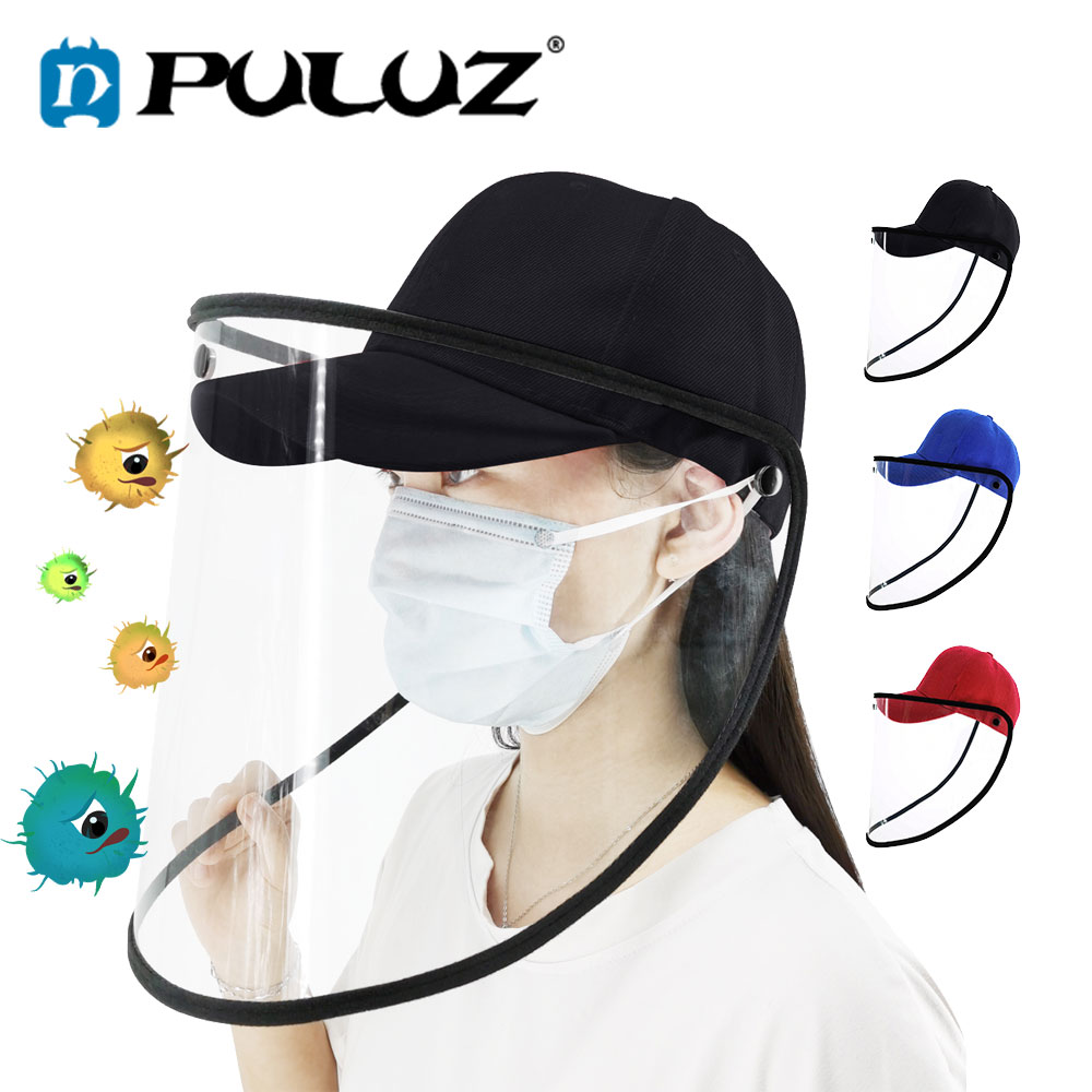 PULUZ Safety Helmet Mascarillas Anti Virus Koronavirus Protection Anti Saliva Splash Mascarilla Mask Plegable Hard Hat Masque