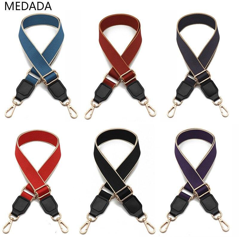 Medada Women's Pure Color Replacement  Hundred-strap Shoulder Strap Single Shoulder Oblique Span Bag Adjustable Accessories