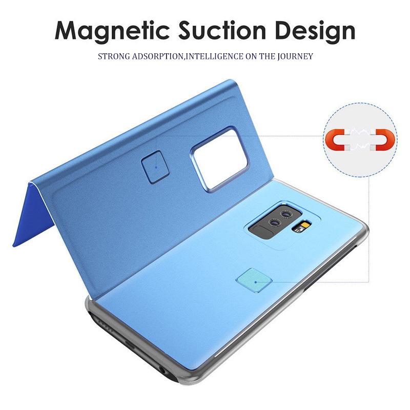 Smart Mirror Flip Case For Samsung Galaxy S20 FE S10 S9 S8 Plus S7 Edge A42 A50 A51 A70 A71 A10s A20 A30s A01 A21s A31 M31 Cover
